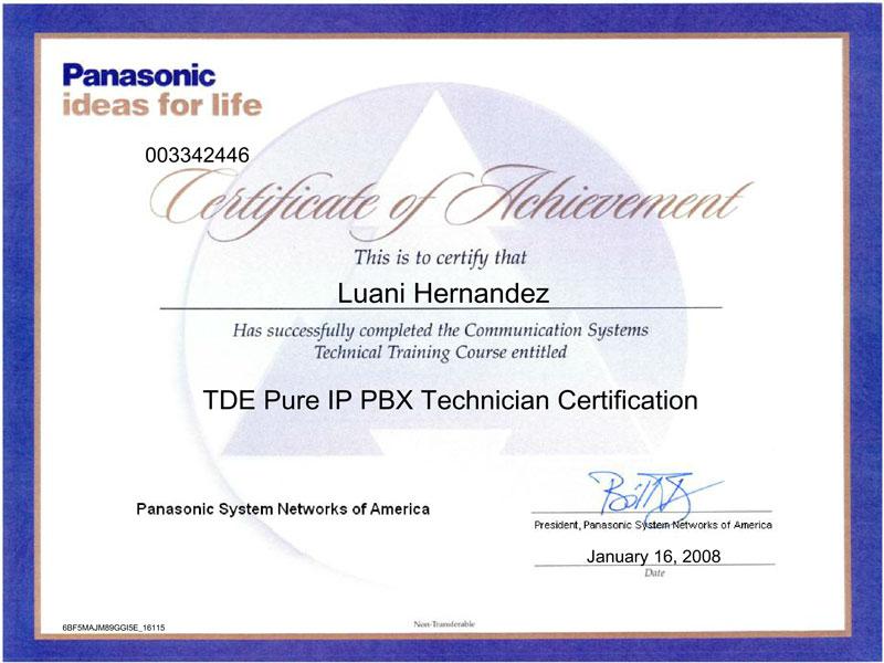 Certified Technicians